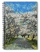 Blooming Cherry Tree Avenue Spiral Notebook