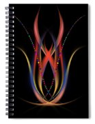 Blooming Digital Artwork Spiral Notebook