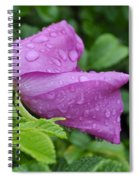 Blooming In The Rain Spiral Notebook