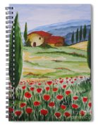 Blooming Poppy In Tuscany Spiral Notebook
