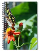 Blooms And Butterfly4 Spiral Notebook