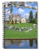 Blossom-framed House Spiral Notebook