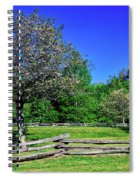 Blossom Trees In Farm, Davidson River Spiral Notebook