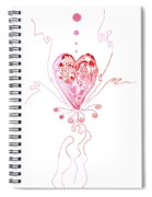 Blossoming Love Pink And Red Valentine Spiral Notebook