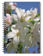 Blossoms On Blue Spiral Notebook