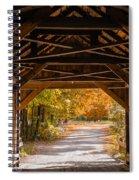 Blow-me-down Covered Bridge Cornish New Hampshire Spiral Notebook