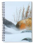 Blowing Snow And Rocks Spiral Notebook