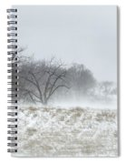 Blowing Snow Over Fields And Forest Spiral Notebook