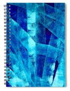 Blue Abstract Art - Paths - By Sharon Cummings Spiral Notebook