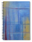 Blue Abstract Spiral Notebook