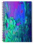 Blue Abstract Trunk Spiral Notebook