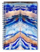 Blue Agate Abstract II Spiral Notebook