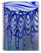 Blue And Black Swirl Abstract Spiral Notebook