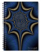 Blue And Gold Abstract Spiral Notebook