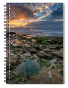 Blue And Gold Tidepools Spiral Notebook