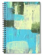 Blue And Green Abstract Spiral Notebook
