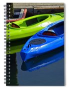 Blue And Green Kayaks Spiral Notebook