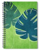 Blue And Green Palm Leaves Spiral Notebook