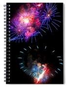Blue And Red Firework Disks Spiral Notebook