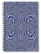 Blue And Silver 2 Spiral Notebook