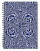 Blue And Silver 3 Spiral Notebook