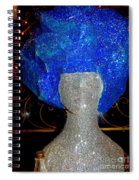 Blue And Silver Girl Spiral Notebook