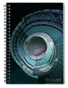 Blue And Silver Spiral Stairs Spiral Notebook