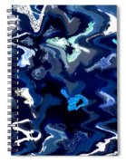 Blue And Turquoise Abstract Spiral Notebook