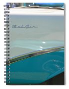Blue And White Bel Air Convertable Spiral Notebook