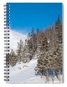 Blue And White Colorado Winter Spiral Notebook