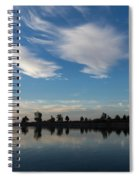 Brushstrokes On The Sky - Blue And White Serenity Spiral Notebook