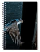 Blue And White Swallow Spiral Notebook