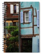 Blue And Yellow Buildings In La Petite Venise In Colmar France Spiral Notebook