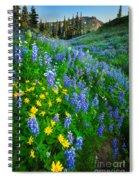 Blue And Yellow Hillside Spiral Notebook