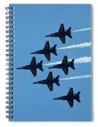 Blue Angels 4 Spiral Notebook