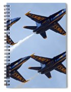 Blue Angels Over Colorado Spiral Notebook