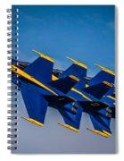 Blue Angels Single File Spiral Notebook