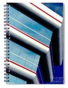 Blue Angled Spiral Notebook