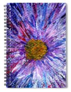 Blue Aster Miniature Painting Spiral Notebook