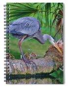 Blue At Dunlawton Spiral Notebook