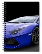 Blue Aventador Spiral Notebook