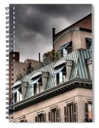 Blue Awnings With Yellow Light Spiral Notebook