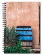 Blue Barrel With Adobe Spiral Notebook