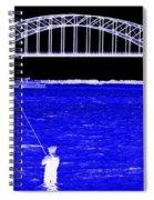 Blue Bay Bridge Spiral Notebook
