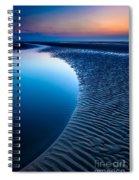 Blue Beach  Spiral Notebook