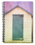 Blue Beach Hut Spiral Notebook
