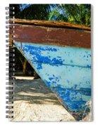 Blue Beached Canoe Spiral Notebook