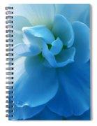 Blue Begonia Flower Spiral Notebook