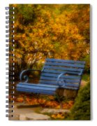 Blue Bench - Autumn - Deer Isle - Maine Spiral Notebook