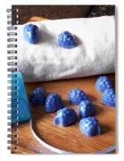 Blue Berries Mini Soaps Spiral Notebook